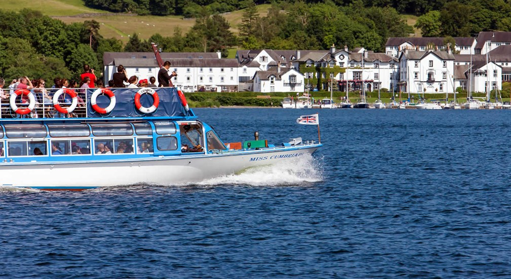 Windermere Lake Cruises and Low wood Bay