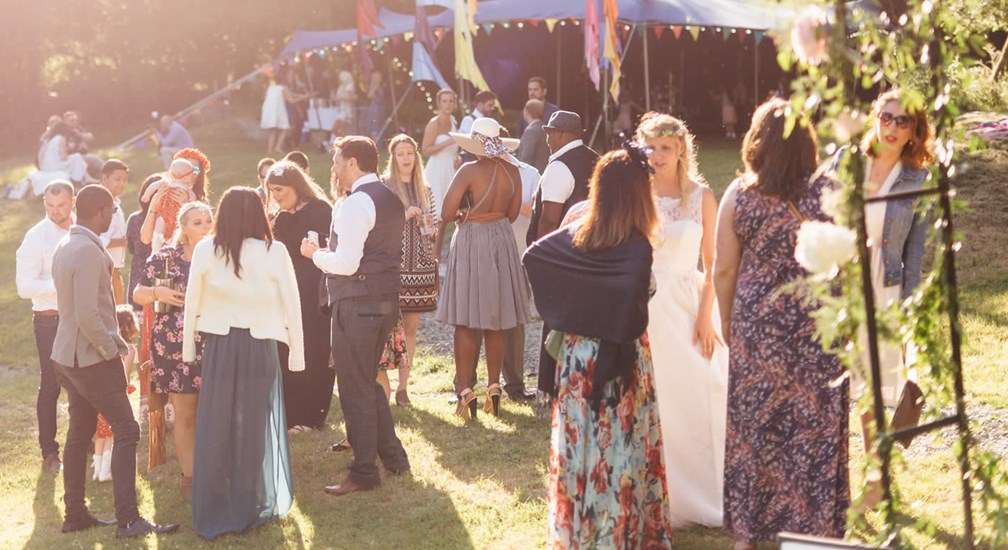 Summer weddings with marquee at The Wild Boar
