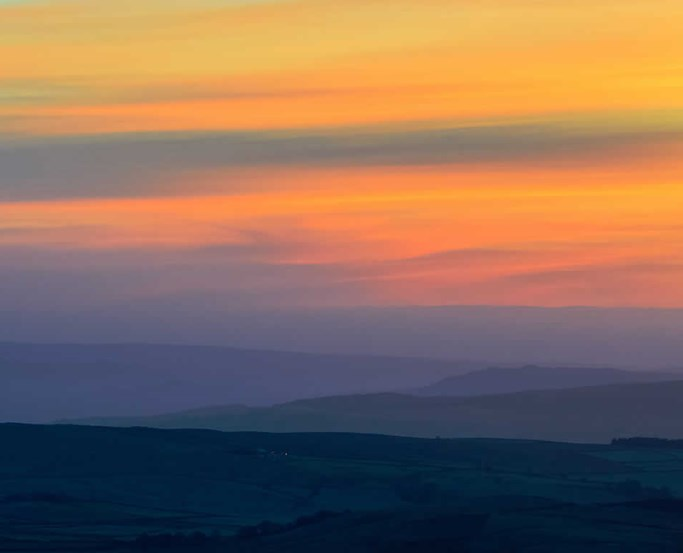 Sunset over the Trough of Bowland